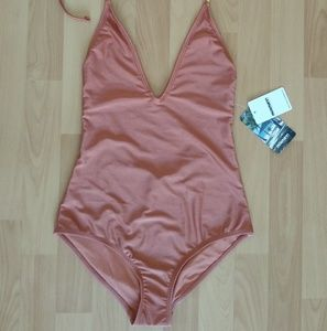 New Mosmann One Piece Bathing Suit Size Small